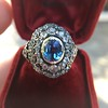 Antique Victorian Sapphire and Diamond Ring 23