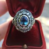 Antique Victorian Sapphire and Diamond Ring 6