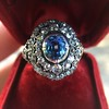 Antique Victorian Sapphire and Diamond Ring 8
