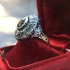 Antique Victorian Sapphire and Diamond Ring 9
