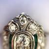 Art Deco Diamond Dinner Ring, Platinum 17