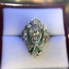 Art Deco Diamond Dinner Ring, Platinum 24