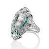 Art Deco Diamond Dinner Ring, Platinum 4