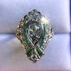 Art Deco Diamond Dinner Ring, Platinum 43