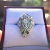 Art Deco Diamond Dinner Ring, Platinum 20