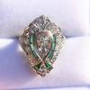 Art Deco Diamond Dinner Ring, Platinum 37