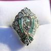 Art Deco Diamond Dinner Ring, Platinum 39