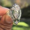 Art Deco Diamond Dinner Ring, Platinum 38