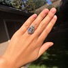 Art Deco Diamond Dinner Ring, Platinum 26