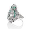 Art Deco Diamond Dinner Ring, Platinum 2