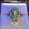 Art Deco Diamond Dinner Ring, Platinum 8