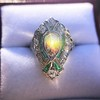 Art Deco Diamond Dinner Ring, Platinum 19