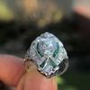 Art Deco Diamond Dinner Ring, Platinum 41