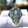 Art Deco Diamond Dinner Ring, Platinum 6