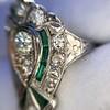 Art Deco Diamond Dinner Ring, Platinum 15