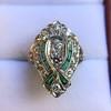 Art Deco Diamond Dinner Ring, Platinum 42