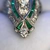 Art Deco Diamond Dinner Ring, Platinum 14