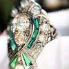 Art Deco Diamond Dinner Ring, Platinum 35