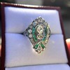 Art Deco Diamond Dinner Ring, Platinum 10