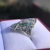 Art Deco Diamond Dinner Ring, Platinum 9