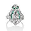 Art Deco Diamond Dinner Ring, Platinum 1