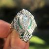 Art Deco Diamond Dinner Ring, Platinum 40