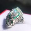 Art Deco Diamond Dinner Ring, Platinum 32