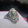 Art Deco Diamond Dinner Ring, Platinum 31