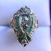 Art Deco Diamond Dinner Ring, Platinum 46