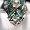 Art Deco Diamond Dinner Ring, Platinum 33