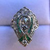 Art Deco Diamond Dinner Ring, Platinum 44