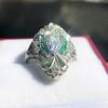 Art Deco Diamond Dinner Ring, Platinum 27