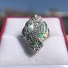 Art Deco Diamond Dinner Ring, Platinum 28