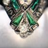 Art Deco Diamond Dinner Ring, Platinum 34