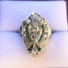 Art Deco Diamond Dinner Ring, Platinum 23