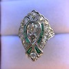 Art Deco Diamond Dinner Ring, Platinum 45
