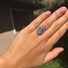 Art Deco Diamond Dinner Ring, Platinum 21