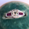 1.00ct (est) Art Deco Diamond and Ruby Ring 5