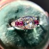 1.00ct (est) Art Deco Diamond and Ruby Ring 9