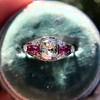 1.00ct (est) Art Deco Diamond and Ruby Ring 16