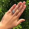 2.23ct Art Deco Emerald Cut and Turquoise Halo Ring 44