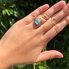 2.23ct Art Deco Emerald Cut and Turquoise Halo Ring 40