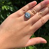 2.23ct Art Deco Emerald Cut and Turquoise Halo Ring 39