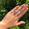 2.23ct Art Deco Emerald Cut and Turquoise Halo Ring 35