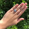 2.23ct Art Deco Emerald Cut and Turquoise Halo Ring 28