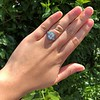 2.23ct Art Deco Emerald Cut and Turquoise Halo Ring 31