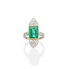 4.05ct Emerald and Old European Cut Diamond Ring 39