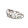 3.08ctw Art Deco OEC Diamond 5-stone Band 1