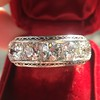 3.08ctw Art Deco OEC Diamond 5-stone Band 5