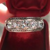 3.08ctw Art Deco OEC Diamond 5-stone Band 18